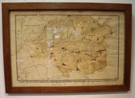 Oude kaart bodemgebruik Oude Maasje en de Donge