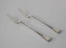 Twee antieke zilveren vorkjes