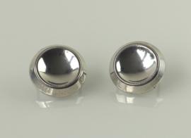 Set van twee vintage zilveren kaasduimen, jaren 30 of 40