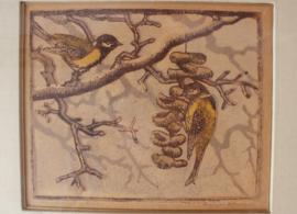 Houtdruk vogels Louis Haver (1906-1966)