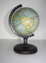 Vintage metalen globe ca 1925