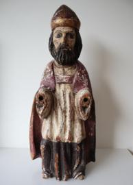 Antiek houten heiligenbeeld