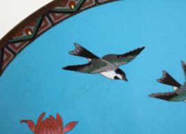 Antiek Japans cloisonné bord