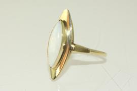 Vintage gouden ring met opaal, jaren '60/'70