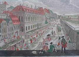 Antieke opticaprent Wenen 18e eeuw.