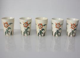 Set Art Deco bekers Société Ceramique