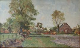 Boerderij in polderlandschap Gerard Altmann (1877-1940)