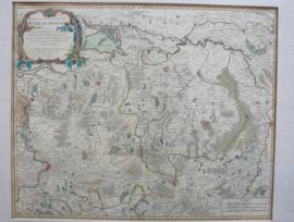 Antieke landkaart van Brabant 1752