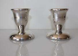Set zilveren tafelkandelaars