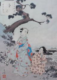 Japanse houtdruk Toshika Mizuno 1893
