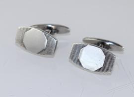 Vintage zilveren manchetknopen Venrooij 1940-1949