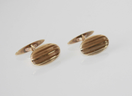 Vintage 14 karaat gouden ovale manchetknopen