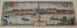 Antieke gravure van Gouda 1581