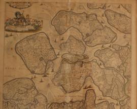 Antieke kaart Zeeland 17e eeuw, Frederik de Wit