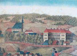Antieke opticaprent Hirschberg 18e eeuw