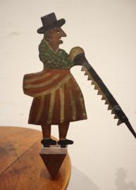 Antiek zagemanneke en zagevrouwke