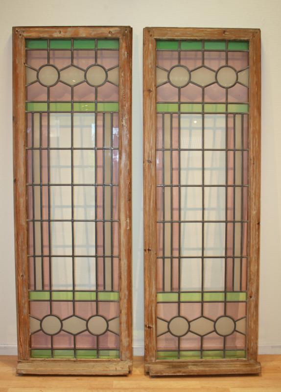 Glas En Lood Ramen.Glas In Lood Ramen Stained Glass Van Gils Antiek O Hout