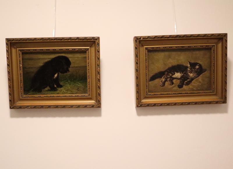Jan Vrolijk (1846-1894) poesje en hond
