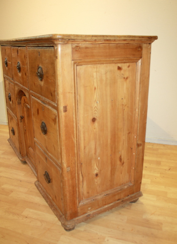 Beste Antieke grenen ladenkast dressoir commodeAntique chest HA-81