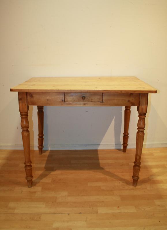 Ongebruikt Antiek frans tafeltje grenen brocant antique table MI-76