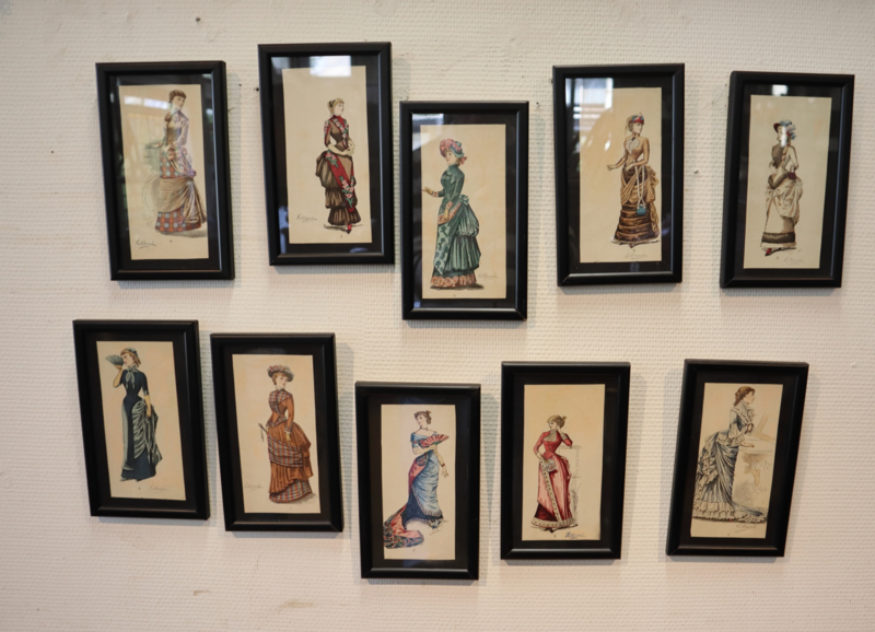 10 antieke modeprenten 19e eeuw