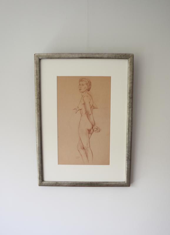 Poserende vrouw, Jan Voerman Junior (1890-1976)