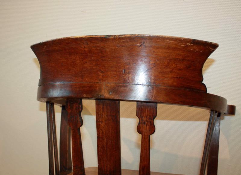 Draaibare Antieke Bureaustoel.Antieke Burostoel Antique Deskchair Van Gils Antiek