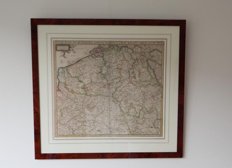 Antieke Kaart Zuid Nederland Belgie Fredrik De Wit