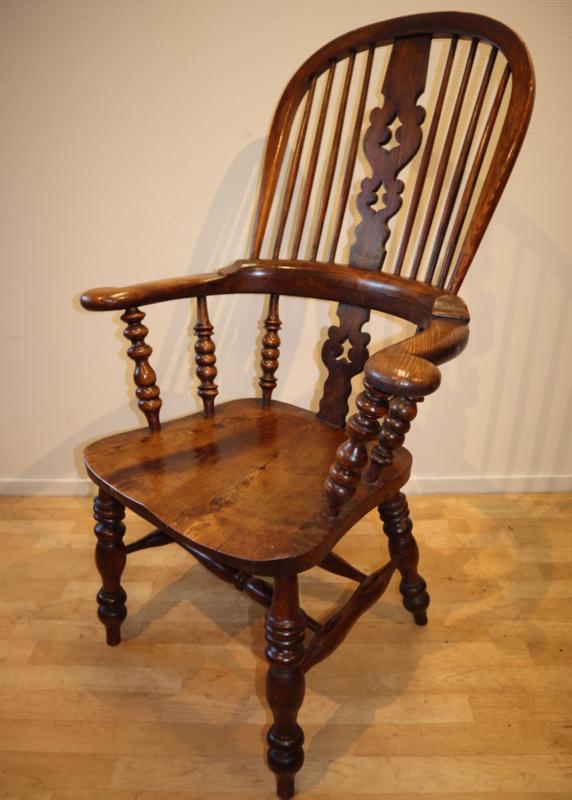 Antieke Windsorstoel antique chair Van Gils Antiek