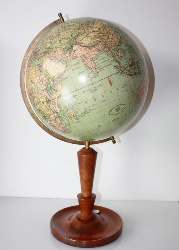 Onwijs Antieke globe wereldbol Boghallens Van Gils Antiek GN-01