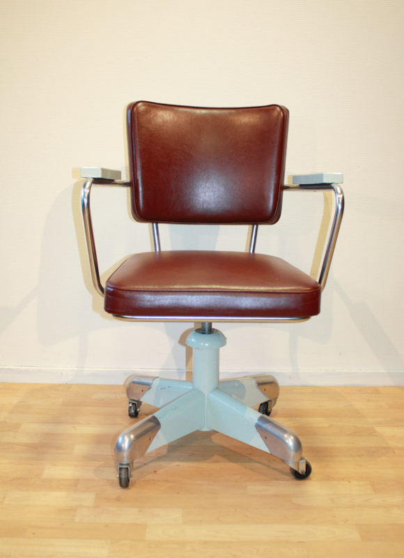 Gispen bureaustoel 358 P Vintage Retro Van Gils Antiek