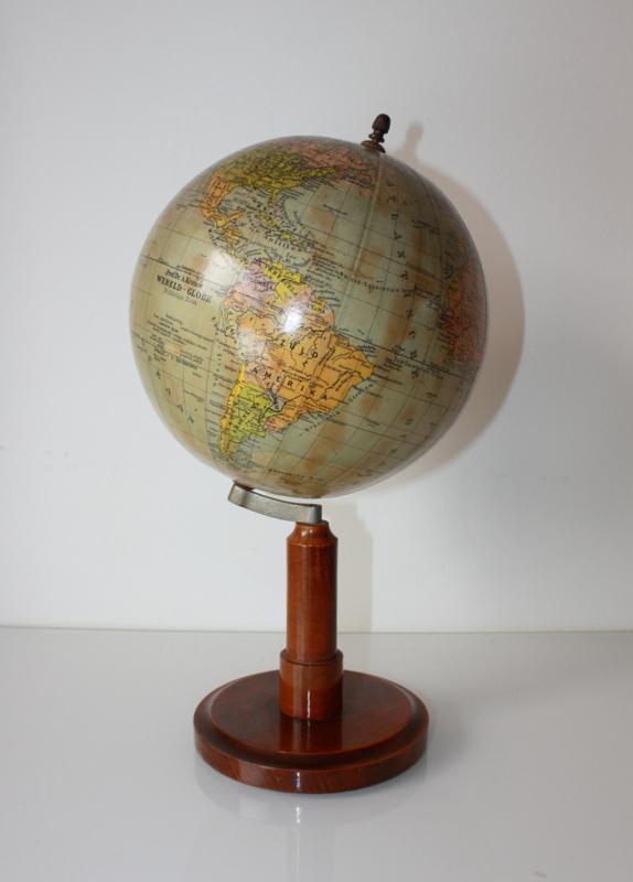 Fonkelnieuw Antieke globe wereldbol Krause Van Gils Antiek NK-54