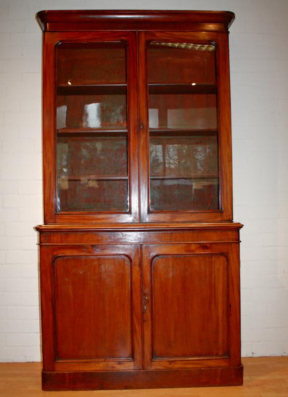 Engelse Boekenkast Glas.Antieke Boekenkast Apothekerskast Antique Library Chest