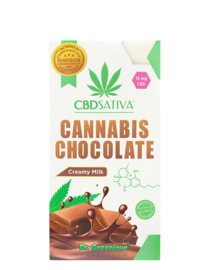 Cannabis Creamy Milk Chocolate with CBD - 15 mg