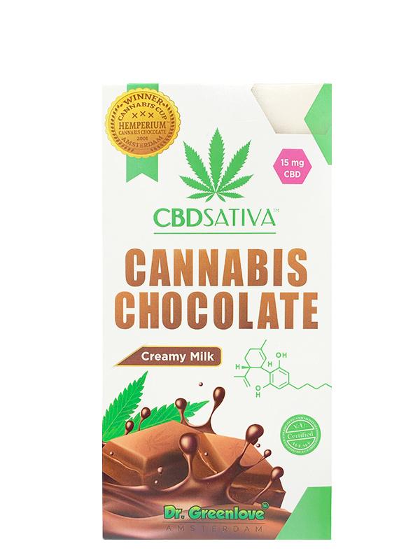 Cannabis cremige Milchschokolade mit CBD - 15mg