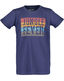Donker blauw t-shirt 'Jungle fever', Blue Seven