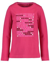Fleurig roze shirt, Blue Seven