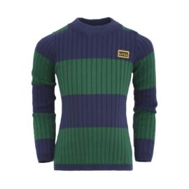 Donker blauw met groen gestreepte trui, Lovestation22
