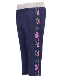 Donker blauwe legging met bloemetjes, Blue Seven