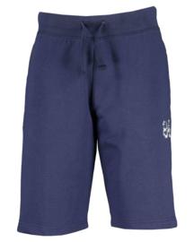 Donker blauwe korte broek, sweatstof. Blue Seven