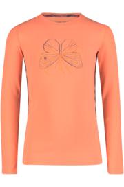 Neon oranje shirt met vlinder, 4President