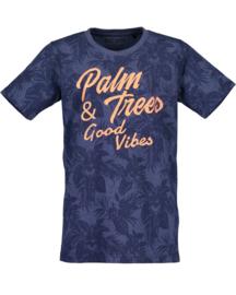 Donker blauw t-shirt met zomerse uitstraling, Blue Seven