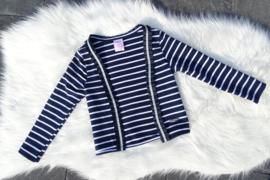 Marine blauw/ wit vest, Zero Jeans