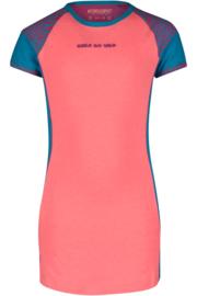 Dress Estella, Sportieve neon roze, blauwe jurk. 4President