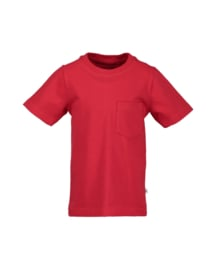 Rood basis t-shirt, Blue Seven