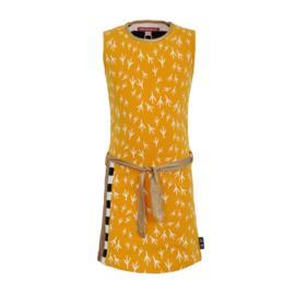 Dress Neeltje, gele jurk met ceintuur. Lovestation22