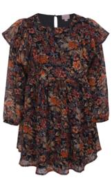 Prachtig jurkje met herfst kleurige bloemen, Kids up