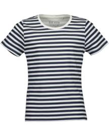 Gestreept donker blauw/wit t-shirt, Blue Seven