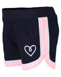 Zwarte korte broek met roze accenten, Blue Seven
