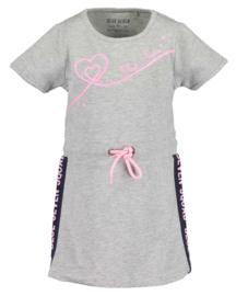 Sportief grijs jurkje met fel roze accenten, Blue Seven